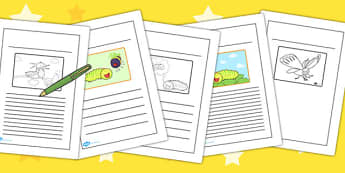 Story Writing Frames to Support Teaching on The Crunching Munching Caterpillar - write