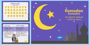 Ramadan Daily Kindness Calendar PowerPoint English/Romanian - Ramadan Daily Kindness Calendar - ramadan, daily, kindness, calendar, calander, calander, calandar,