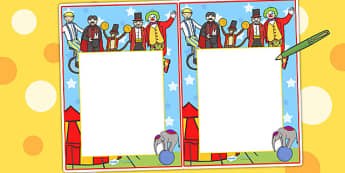 Circus Themed Editable Notes - teacher notes, praise note, praise