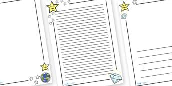 Twinkle Twinkle Little Star Page Borders - Twinkle, Twinkle, Little Star, Literacy, writing, page border, a4 border, template, writing aid, writing border, page template, nursery rhyme, rhyme, rhyming, nursery rhyme story, nursery rhymes, space, Twin