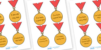 Award Medals (Home Use) - Home award,  award, reward, rewards, school reward, medal, good behaviour, award, good listener, good writing, good reading