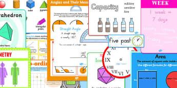 LKS2 Maths Shape, Space and Measures Display Pack- lks2, maths, shape