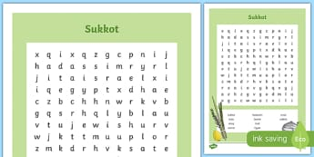 Sukkot Word Search
