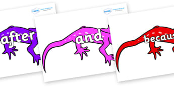 Connectives on Geckos - Connectives, VCOP, connective resources, connectives display words, connective displays