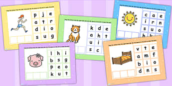 CVC Words Mixed Spelling Flipchart - CVC word, spell, spellings