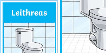 Leithreas Toilet Display Poster-Irish, toilet, sign, poster, display