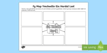 Templed Ymchwilio Map Ein Hardal Leol - ardal, lleol, ein hardal leol, tai, cartrefi, chartrefi, byw, cymuned,Welsh