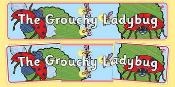 The Grouchy Ladybug Display Banner - usa, america, the grouchy ladybug, display banner