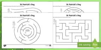 Leprechaun Shaun Maze Activity Sheet - NI, St. Patrick's Day Resources, KS2, mazes,Leprechaun Shaun Maze