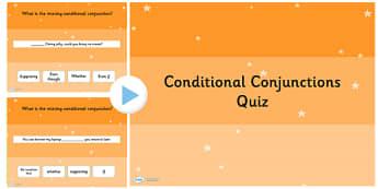 Conditional Conjunctions SPaG Grammar Quiz - Connectives, SPaG