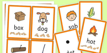 CVC Flash Cards with British Sign Language 'o' - flashcards, sign