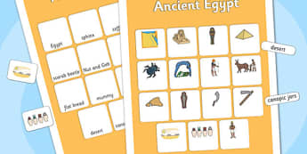 Ancient Egyptian Vocabulary Matching Mat - ancient egyptian, vocabulary, matching mat, word mat, vocabulary mat, vocab mat, keyword, key word mat, vocab