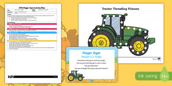 EYFS Tractors in a Tangle Finger Gym Plan and Resource Pack