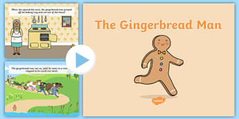 The Gingerbread Man Story PowerPoint - ginger bread man, stories