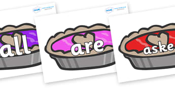 Tricky Words on Jam Tarts - Tricky words, DfES Letters and Sounds, Letters and sounds, display, words