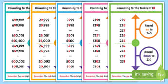 Year 5 Rounding to the Nearest 10 100 1000 10000 100000 Classroom