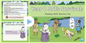 Year 2 SATs Survival: Reading Skills Revision PowerPoint 10 - SATs Survival Materials Year 2, SATs, assessment, 2017, English, SPaG, GPS, grammar, punctuation, sp