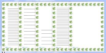 St George's Dragon Portrait Page Borders- Portrait Page Borders - Page border, border, writing template, writing aid, writing frame, a4 border, template, templates, landscape