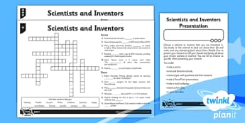 PlanIt - Science Year 6 - Scientists and Inventors Home Learning Tasks - planit, science, year 6, scientists and inventors, home learning tasks