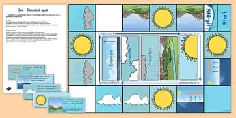 Circuitul apei, Joc - stiinte, apa, circuitul apei in natura
