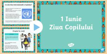 Ziua Internațională a Copilului PowerPoint - ziua copiilor, copii, 1 iunie, română, matematică, activități, drepturile copiilor, drepturile