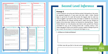 CfE Second Level Inference Go Respond Activity Sheet - CfE Literacy, reading comprehension strategies, inference, activity sheet, go respond, electronic la