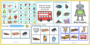 Phase 1 Activity Pack - phase, phase 1, phase one, activity pack, literacy, phonics
