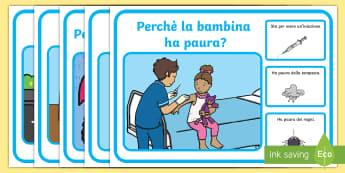 Perchè? Domanda Risposta Attività - domande, risposta, perchè, causa, effetto, italiano, italian, materiale, scolastico