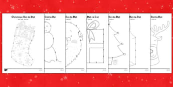 Christmas Dot to Dots Arabic Translation - arabic, christmas, dot to dot, game, activity, fine motor skills