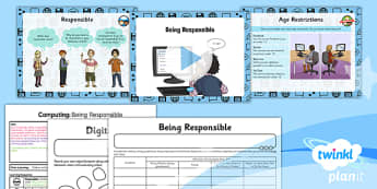 PlanIt - Computing Year 3 - Internet Research and Communication Lesson 6: Being Responsible Lesson Pack - internet, communication, responsible, online, posting