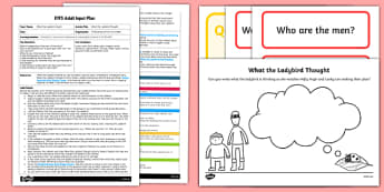 EYFS Adult Input Plan and Resource Pack to Support Teaching on What the Ladybird Thought