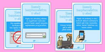Plakaty Bezpieczeństwo w sieci po polsku - Internet