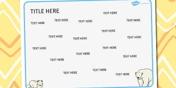 The Arctic Themed Editable Word Mat - literacy, visual aids