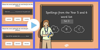 Spelling from the Year 5 and 6 Wordlist Set 3 - spellings, wordlist, 5, 6, words, list, spell, words, 2014, curriculum, ks2
