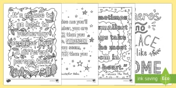 Bullet Journal Inspirational Quotes Colouring Page - Bullet Journal, bujo, diary, journal, borders, colouring, doodles, quotes, inspire, inpsirational