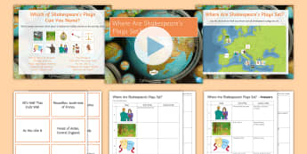 Shakespeare's Plays and Their Locations Activity Pack  - Secondary - Shakespeare's Birthday 23/04/2017