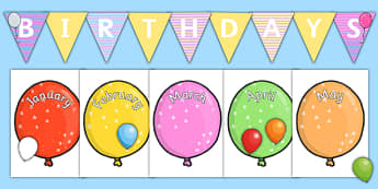Balloon Themed Birthday Display Pack - birthday, display, pack