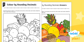 Y4 Fractions Round Decimals Home Learning Tasks - Decimals, decimal number, rounding, whole number, one decimal place, 1 decimal place, tenths