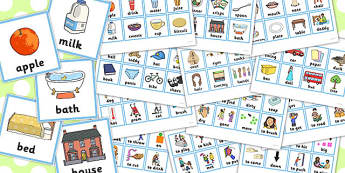 First Word Cards Older Children - first, word, cards, older