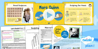 PlanIt - Art KS1 - Let's Sculpt Lesson 1: Marc Quinn Lesson Pack
