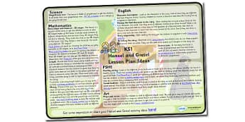 Hansel and Gretel Lesson Plan Ideas KS1 - hansel, gretel, lesson, plan, lesson plan, ideas, lesson ideas, KS1 lesson plan, KS1, hansel and gretel lesson