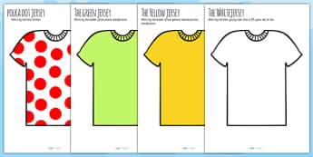 Tour de France Jersey Cut Outs - le tour, display, cycling, sport