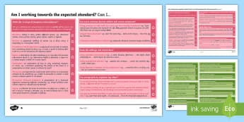 'I Can' Statements with Worked Examples Writing Assessment Pack - Writing, assessment, self assessment, language, grammar, sentences, vocabulary, punctuation,Australi