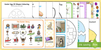 EYFS The Last Week Before Easter Resource Pack - easter, easter story, display, resources, activities, easter eggs, easter bunny, religion