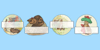 Beatrix Potter - The Tale of Benjamin Bunny Editable Self Registration - beatrix potter, benjamin bunny