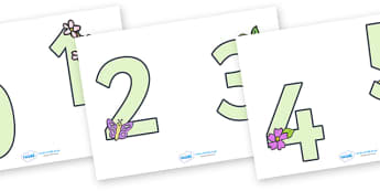 0-9 Display Numbers (Easter) - Display numbers, 0-9, numbers, display numerals, Easter, display lettering, display numbers, display, cut out lettering, lettering for display, display numbers