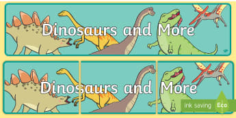Dinosaurs and More Year 1 Biological Sciences Display Banner - Australian Curriculum, Biological science, year 1, dinosaurs, primary connections, science display,