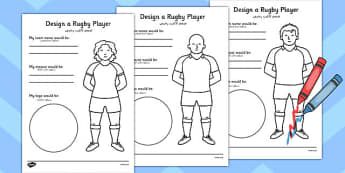 Design a Rugby Player Worksheet Arabic Translation - arabic