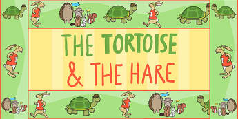The Tortoise and The Hare Display Borders - border, story books