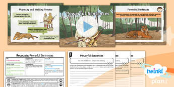 PlanIt Y6 Animals: The Tyger Lesson Pack - Animals: The Tyger, tigers, hunters, recount, develop notes, initial ideas, powerful sentences,